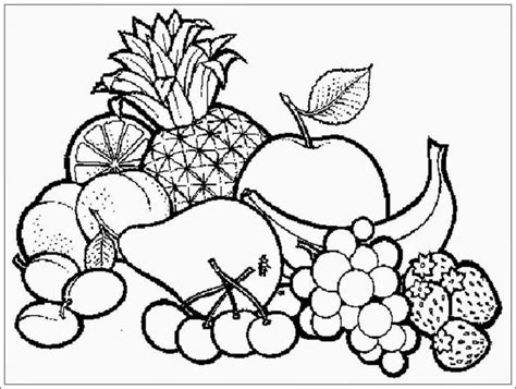 gambar buah mangga mewarnai
