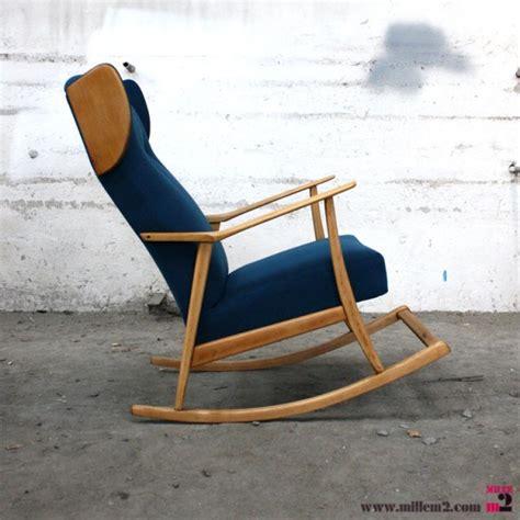 siege bascule fauteuil à bascule vintage bleu mille m2 ma boutique