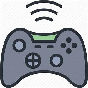 Controller, game, joystick, wifi, wireless, xbox icon ...