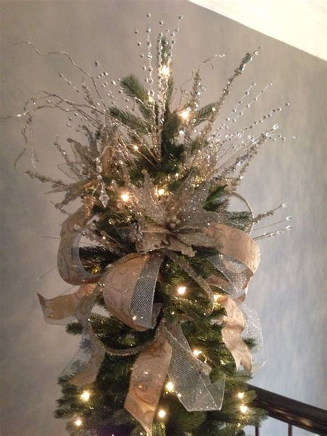 Pretty Tree Toppers by Silver And Gold Tree Topper Seasonal Planters