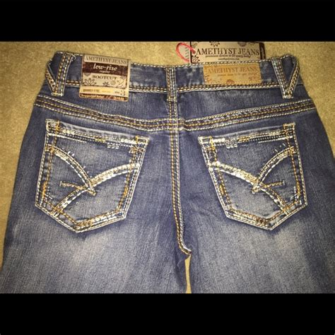 amethyst jeans denim amethyst jeans  rise regular bootcut size   joys closet