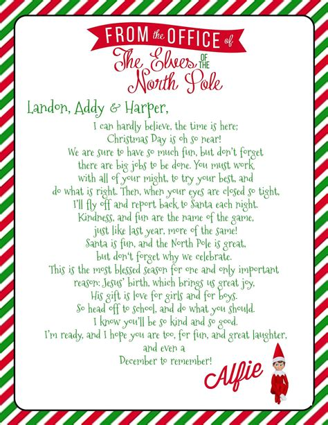 growing  godbold elf   shelf  letter