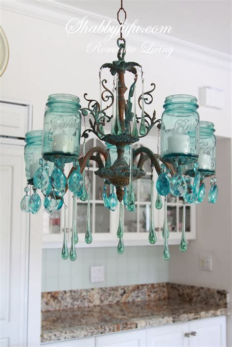 how to make a farmhouse jar chandelier shabbyfufu