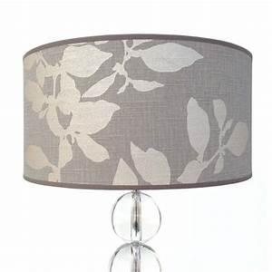Lampenschirm 40 Cm : lampenschirm grau taupe rund 40 x 20 cm leinen online shop direkt vom hersteller ~ Pilothousefishingboats.com Haus und Dekorationen