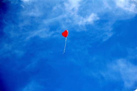 Nube, Cielo, Globo, Mosca, Amor, Rojo