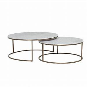 elle nesting coffee tables white brass lounge With white nesting coffee table