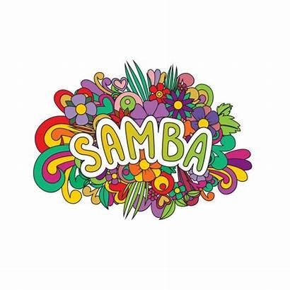 Samba Brazilian Clip Vector Dancing Flowers Illustrations