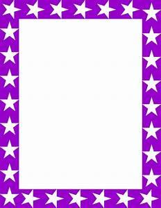 Purple Star Border Clipart