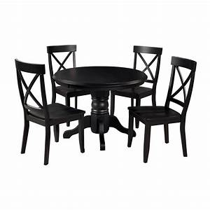 Set Table Rond : shop home styles black 5 piece dining set with round dining table at ~ Teatrodelosmanantiales.com Idées de Décoration