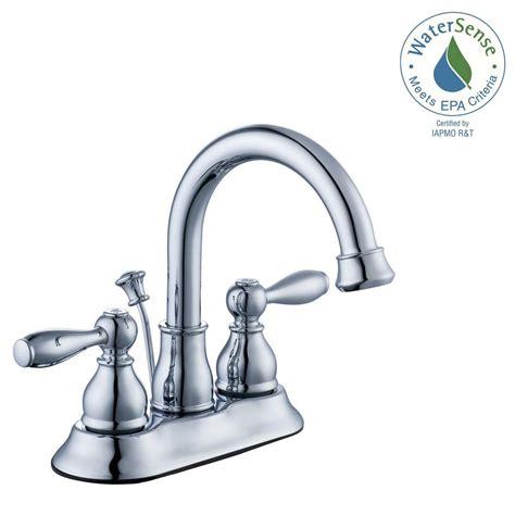 Glacier Bay Bathroom Sink Faucets by Glacier Bay Mandouri 4 In Centerset 2 Handle High Arc