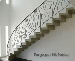 Rampe D Escalier Moderne : rampe d 39 escalier en fer forg contemporaine par ms poirier fer forg s pinterest escalier ~ Melissatoandfro.com Idées de Décoration