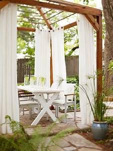 Outdoor Vorhänge Ikea : natursteinplatten bodenbelag im landhausstil holzpergola mit vorhang haus pinterest ~ Yasmunasinghe.com Haus und Dekorationen