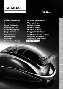 Siemens Vs07g 2225 Vacuum Cleaner Download Manual For Free