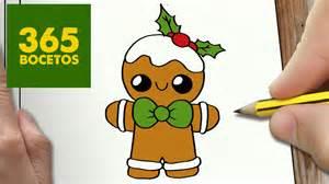 como dibujar una galleta para navidad paso a paso dibujos kawaii navideños how to draw a