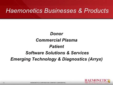 Haemonetics Presentation