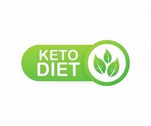 Ketogenic Diet Logo Sign Keto Diet Vector Illustration