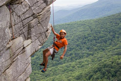 rock climbing camp carolina brevard