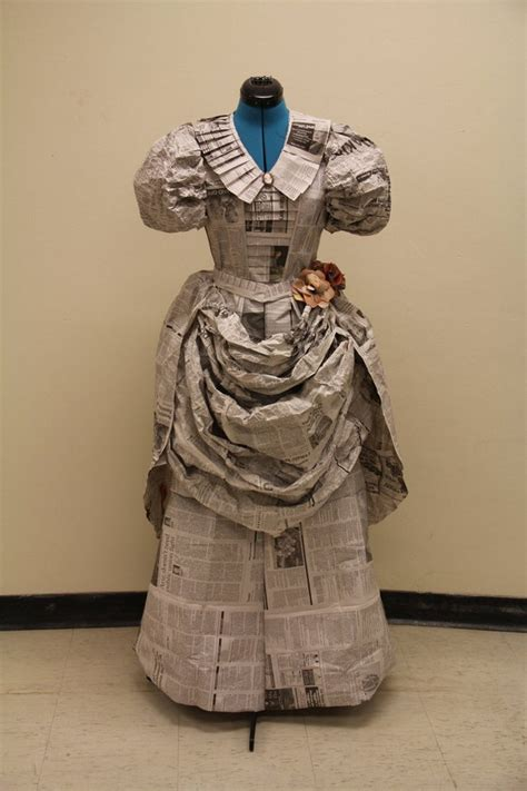 recycled newspaper dresses recycled crafts