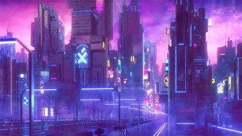 neon wallpaper wallpaper city animated digital wallpaper