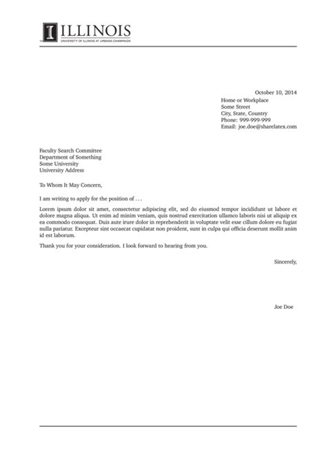 cover letter sle uiuc experience resumes