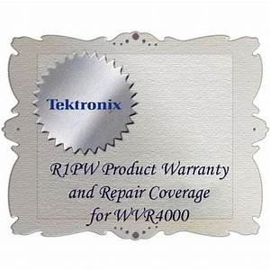Tektronix R1pw Product Warranty And Repair Coverage