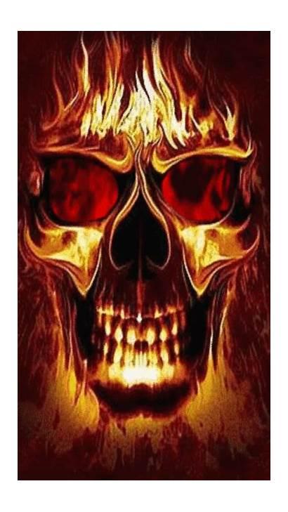 Skull Screensavers Skulls Wallpapers Screensaver Fire Hell