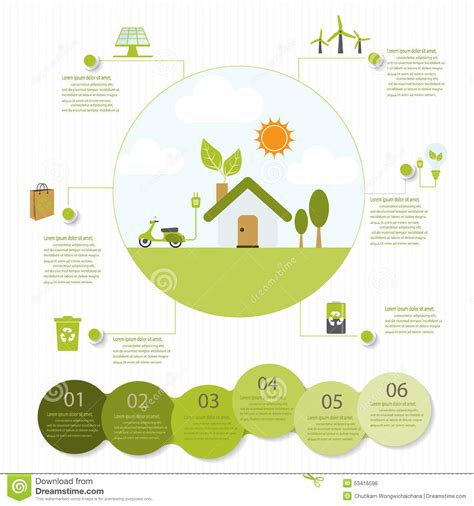 ecological infographics stock vector illustration