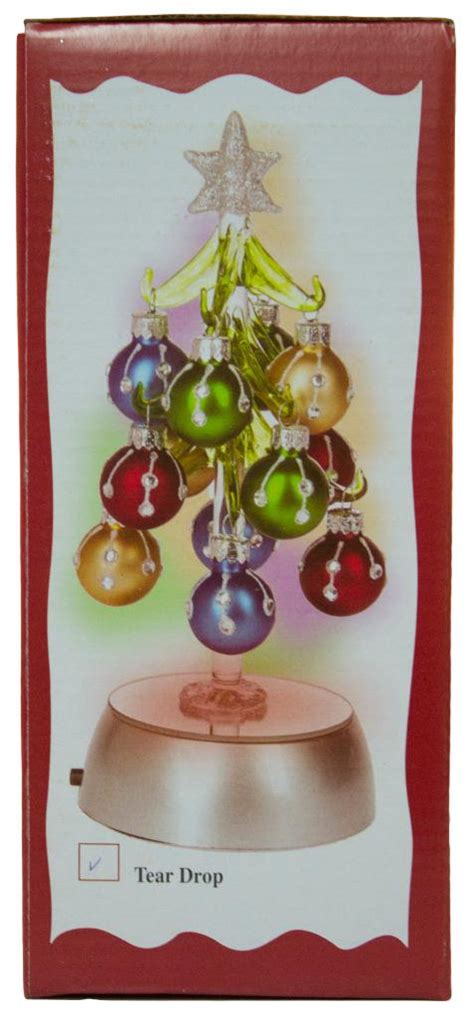 glass light up christmas tree ganz 8 inch light up glass christmas tree with 12