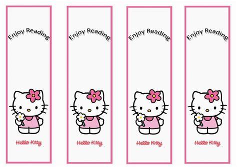 Hello Kitty Bookmarks Birthday Printable