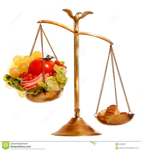 balance cuisine balance with healthy vs heavy food stock image image of