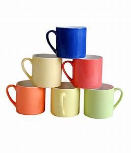 Pearl, Multicolor, Tea, U0026, Coffee, Mugs, Set, Buy, Online, At, Best, Price, In, India