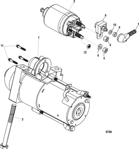 Ford 4 2l Engine Starter Wiring by Mercruiser Mx 6 2l Mpi Bravo Starter Motor Parts