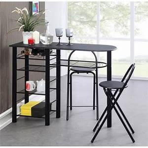 tables et chaises de cuisine pas cher advice for your With deco cuisine avec chaise noir