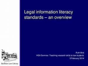 Legal information literacy standards: an overview - Ruth Bird