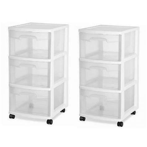 Drawer Containers by Rolling Storage Cart 3 Drawer Organizer Bin Plastic