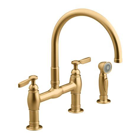 brushed bronze kitchen faucets shop kohler parq vibrant brushed bronze high arc kitchen