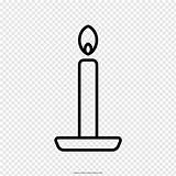 Candle Drawing Line Coloring Pngio Sketch Transparent sketch template