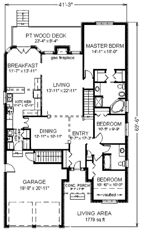 Traditional Style House Plan 3 Beds 2 00 Baths 1778 Sq