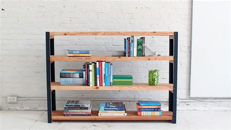build your own bookshelves how to an ironbound diy bookcase out of angle irons