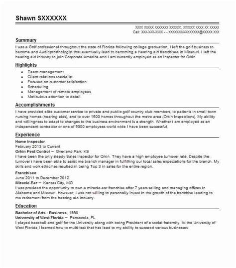 home inspector objectives resume objective livecareer
