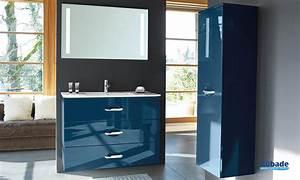 Meuble De Salle De Bain Bleu : meuble salle de bain decotec bento espace aubade ~ Teatrodelosmanantiales.com Idées de Décoration