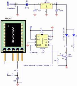 Rf Receiver To Infrared Transmitter Circuit