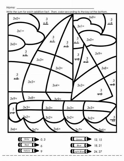 Multiplication Coloring Worksheets Math Worksheet Number Mystery