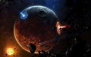 Asteroids and planets - обои для рабочего стола, картинки ...