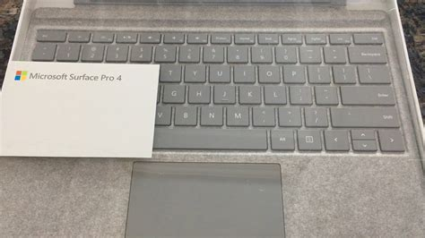 surface pro 4 signature type keyboard unboxing and