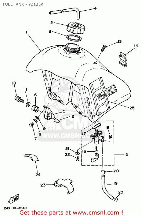 yamaha yz125 offroad 1983 d usa fuel tank yz125k schematic partsfiche