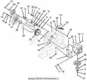 Gravely 992236  040000 - 049999  Pro-turn 460 Parts Diagram For Belt  Drive
