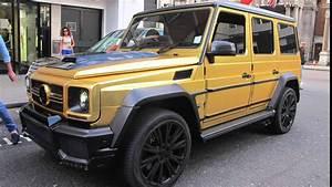 Gold Mercedes G-wagon