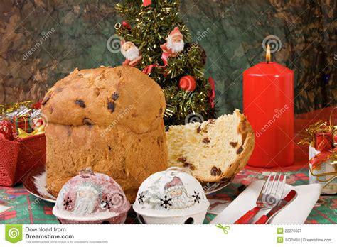 panettone italian xmas cake royalty free stock