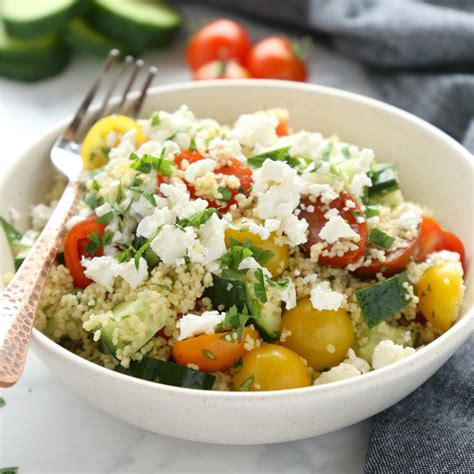 couscous salad lunch bowls meal prep the busy baker